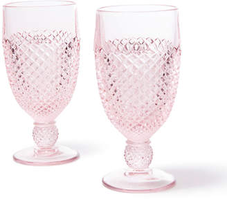 Mosser Glass Pink Glass Goblet Set Of 2