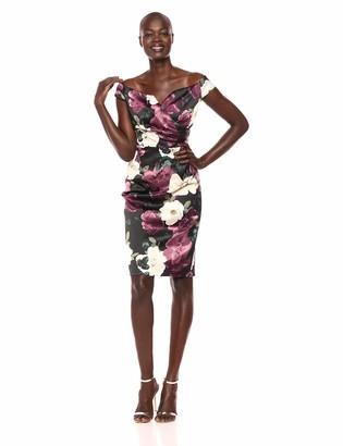 Ignite Women's Stretch Satin Dress with Sweetheart Neckline
