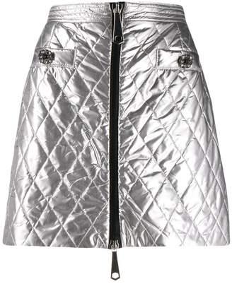 Pinko metallic quilted mini skirt