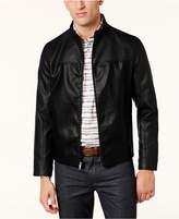 Alfani Men's Faux-Leather Bomber Jacket, Created for Macy's