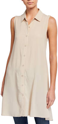 Catherine Malandrino Button-Down Sleeveless Tunic