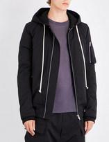 Rick Owens Hooded cotton-blend bomber jacket