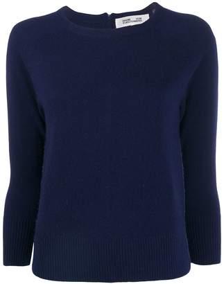 Diane von Furstenberg contrasting zip sweater