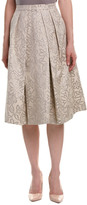 Pink Tartan Midi Skirt