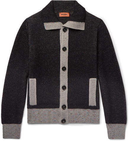 Missoni Contrast-Trimmed Wool Cardigan