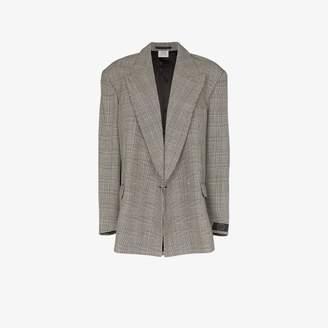 Vetements check single-breasted blazer