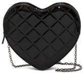 Jessica McClintock Quilted Patent Heart Clutch