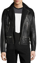 Diesel Leather & Suede Moto Jacket, Black