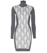 By Malene Birger Hollye lace-panelled stretch-jersey dress