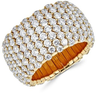 Zydo Stretch 18K Yellow Gold & Diamond Ring