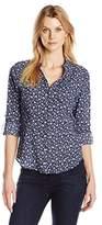 Dockers Women's Convertible Roll Tab Sleeve One Pocket Cargo Shirt