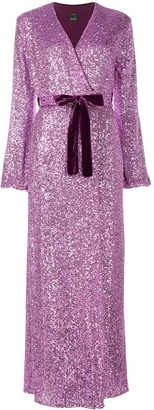 Pinko Sequin Embellished Maxi Dress