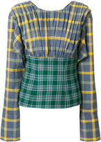 Natasha Zinko two-tone checked top