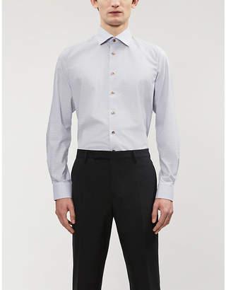 Eton Check slim-fit cotton-blend shirt