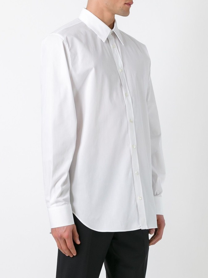 Alexander McQueen pointed collar shirt
