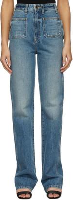KHAITE Blue Isabella Jeans