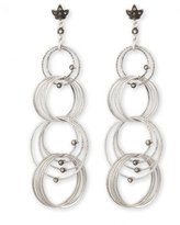 Coomi Spring Silver Links Diamond Earrings, 0.66 TCW