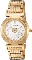 Versace Women's P5Q84SD002 S080 Vanity Precious Analog Display Swiss Quartz Gold Watch