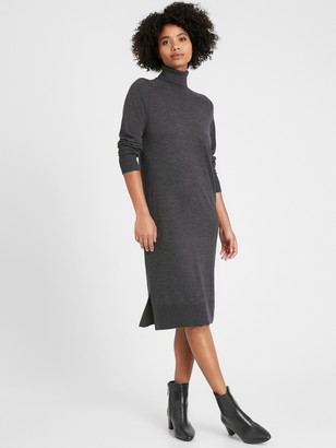 Banana Republic Washable Merino Turtleneck Sweater Dress
