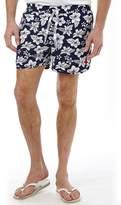U.S. Polo Assn. Mens Hibiscus Print Swim Shorts Medieval Blue
