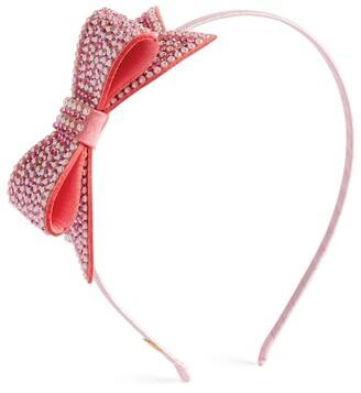 Bari Lynn Bead-Embellished Bow Hairband