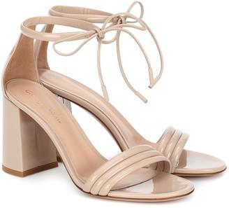 Gianvito Rossi Sydney 85 patent leather sandals