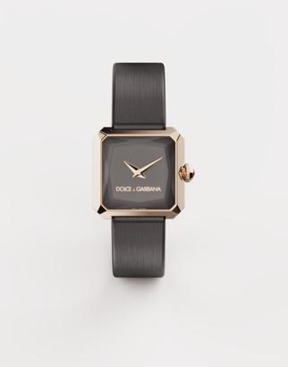 Dolce & Gabbana Gold Watch With Silk Strap