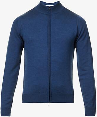 John Smedley Zipped merino-wool cardigan