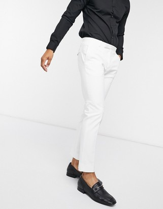 Twisted Tailor tuxedo trousers in white