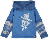 Nano Denim & White Tie-Dye Wolf Hoodie - Infant, Toddler & Boys