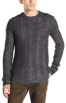 John Varvatos Men's Long Sleeve Crewneck Sweater