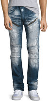 PRPS Distressed Moto Jeans w/Paint, Indigo