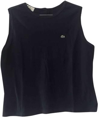 Lacoste Blue Cotton Top for Women