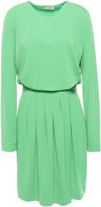 By Malene Birger Pleated Stretch-crepe Mini Dress