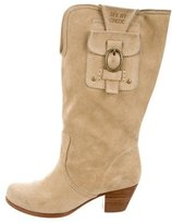 See by Chloe Suede Round-Toe Boots