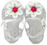 Pate De Sable Douceur Glitter Crochet Applique Jelly Shoes