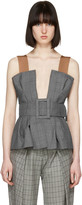 Toga Grey Belted Bustier Top