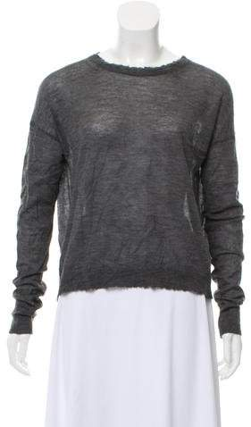 Helmut Lang Cashmere Distressed Sweater