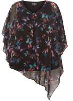 Dorothy Perkins Womens **Billie & Blossom Curve Butterfly Print Overlay Top
