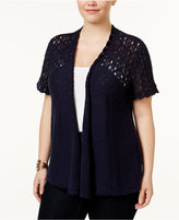 Style&Co. Style & Co Plus Size Cotton Open-Front Cardigan, Only at Macy's