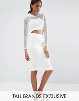 Noisy May Tall Kicks Back Mesh Grid Bodycon Skirt