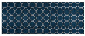 Pottery Barn Mathis Indoor/Outdoor Washable Mat - Navy