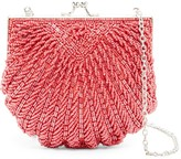 La Regale Fully Beaded Clam Shell Clutch