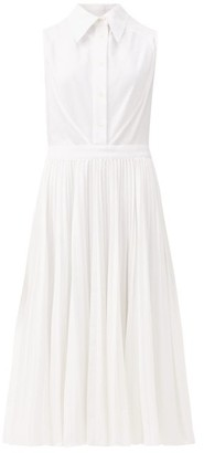 Duncan - Ophelia Pique-panelled Cotton Shirt Dress - White