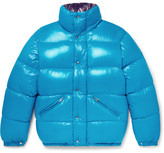 Moncler Dejan Quilted Shell Hooded Down Jacket - Blue
