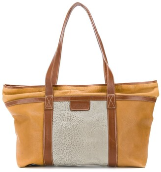 Gianfranco Ferré Pre Owned 1980's Two Tone Tote