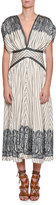 Etro Jasmin Fan-Pleated Midi Dress