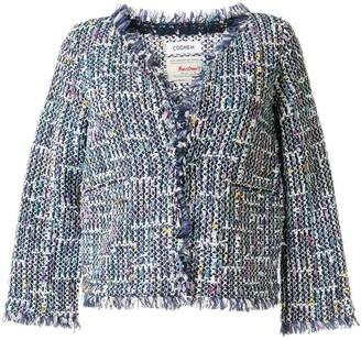 Coohem cropped sleeve Spring Air tweed jacket