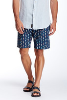 Jachs Printed Flat Front Short
