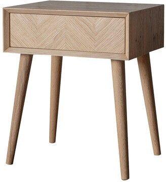 Hudson Living Milano Side Table with Drawer